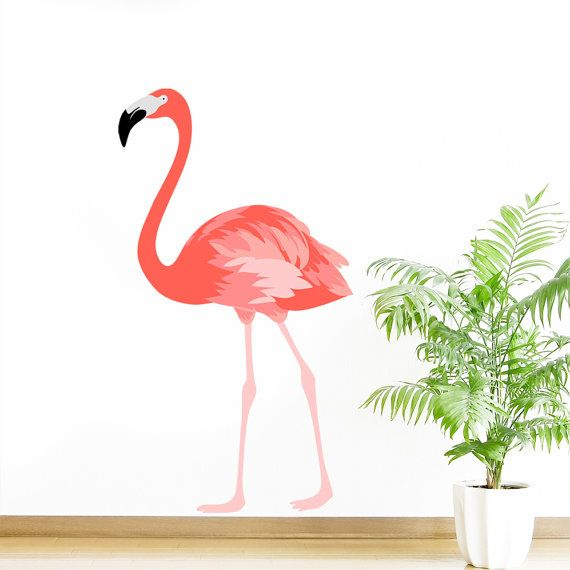 Flamingo bird animal mural wall sticker art vinyl decal transfer designed by rubybloom