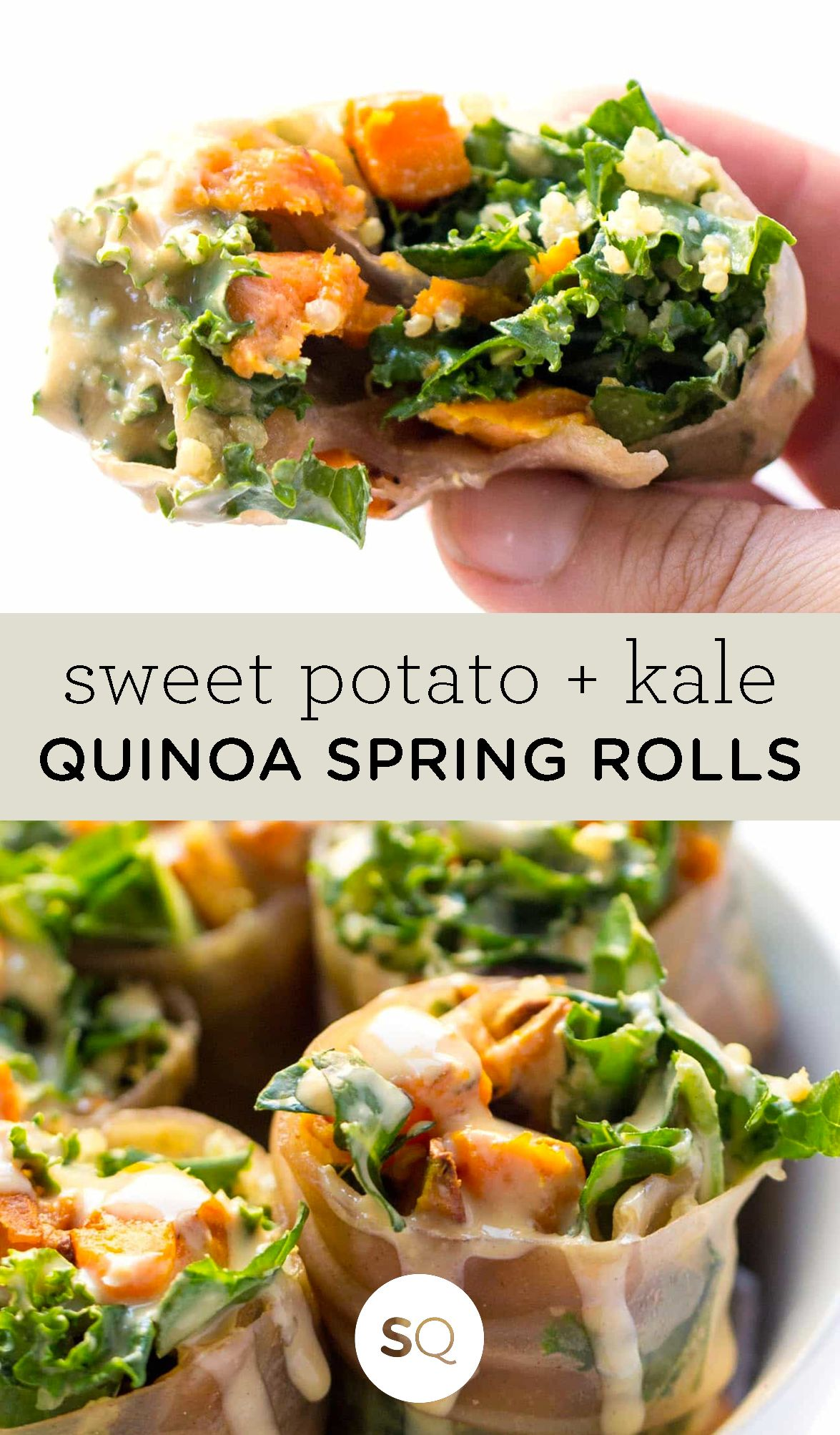Sweet Potato Kale Quinoa Spring Rolls