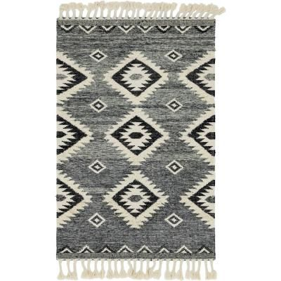 Unique Loom Mesa Charcoal 5 Ft X 8 Ft Area Rug 3146917 The Home Depot Southwestern Area Rugs Unique Loom Grey Area Rug