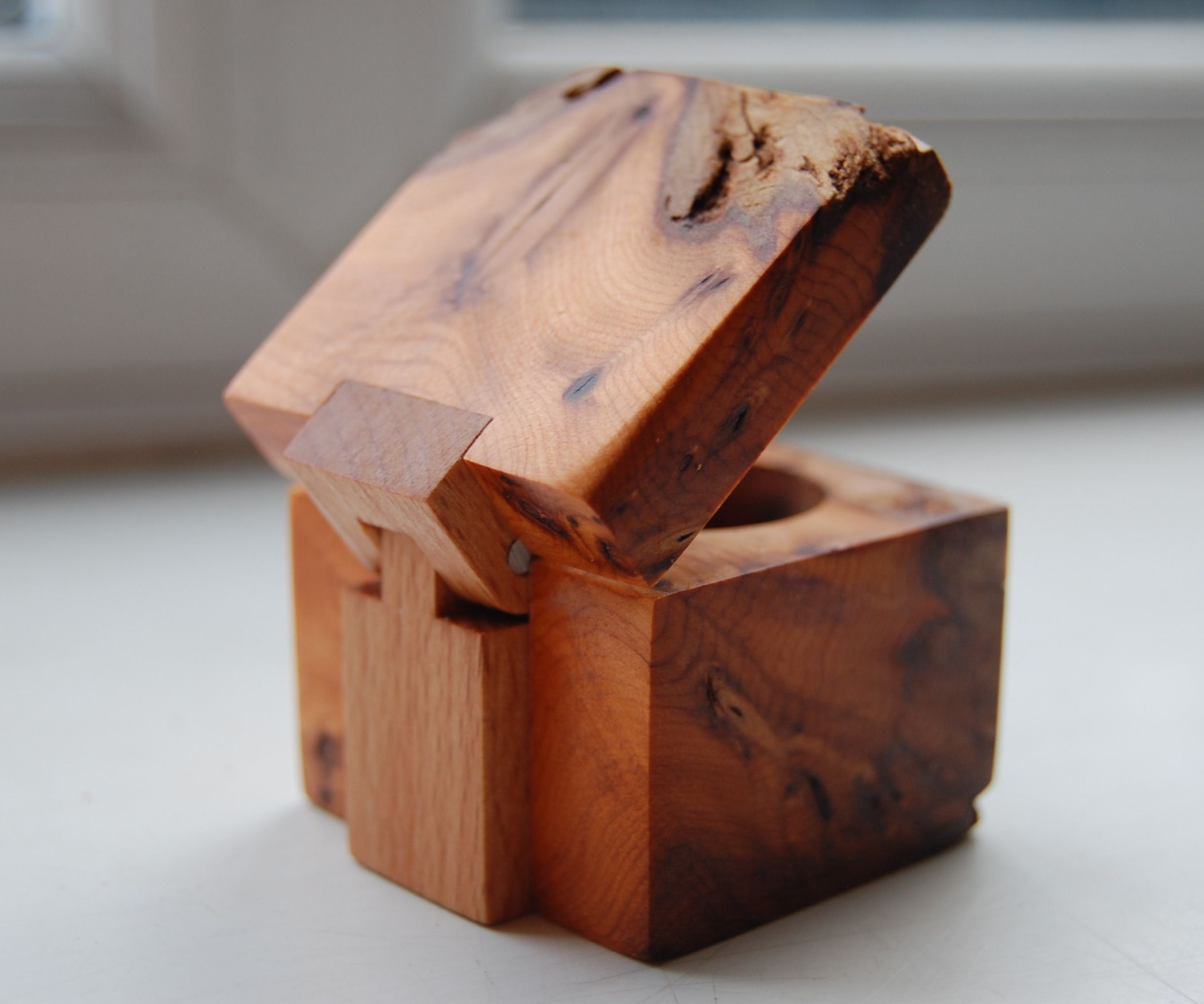 Ring Box With Wooden Hinge Woodworking Pinterest