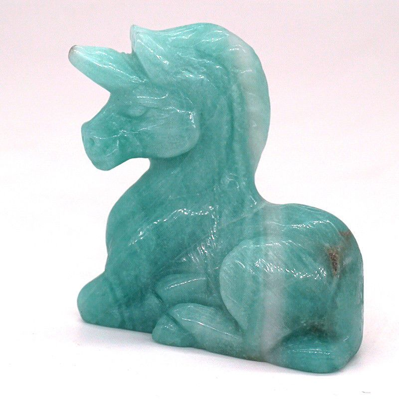 """3/"""" Blue Turquoise Stone Carved Angel Statue Crystal Healing Figurine Home Decor"""