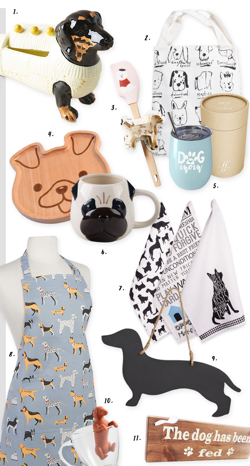 ROUND-UP: 10 Too Cute Dog Themed Kitchen Accessories & Decor Ideas