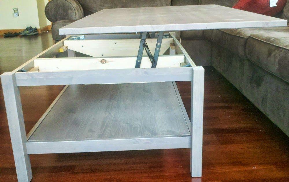 Materials: Hemnes Table, Lift Top Hinge Description: Lift Top Functionality  Allows
