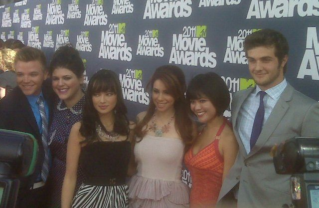 Most of the AWKWARD. cast at the 2011 MTV Movie Awards