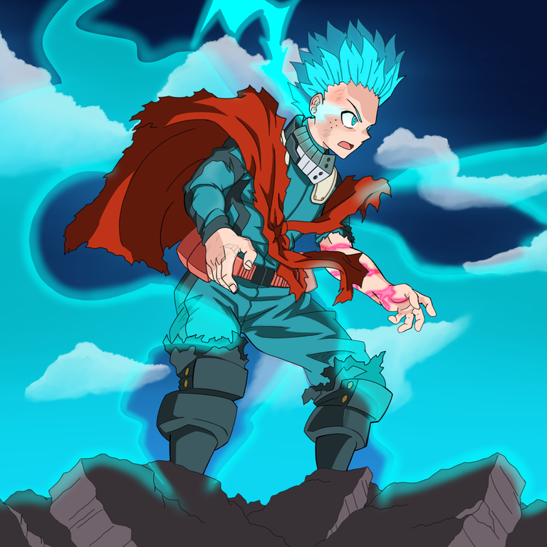 Infinite 100 Percent Ofa Deku Drawn By Me Bokunoheroacademia Anime Episodes Image Macro Boku No Hero Academia