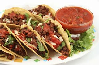 Taco Meat Recipe - This recipes is so much better than using packaged taco seasoning.  You probably have everything on hand anyway.  Try it with ground beef, ground turkey or shredded chicken. Use any shells but we love lettuce leaves for the shell.