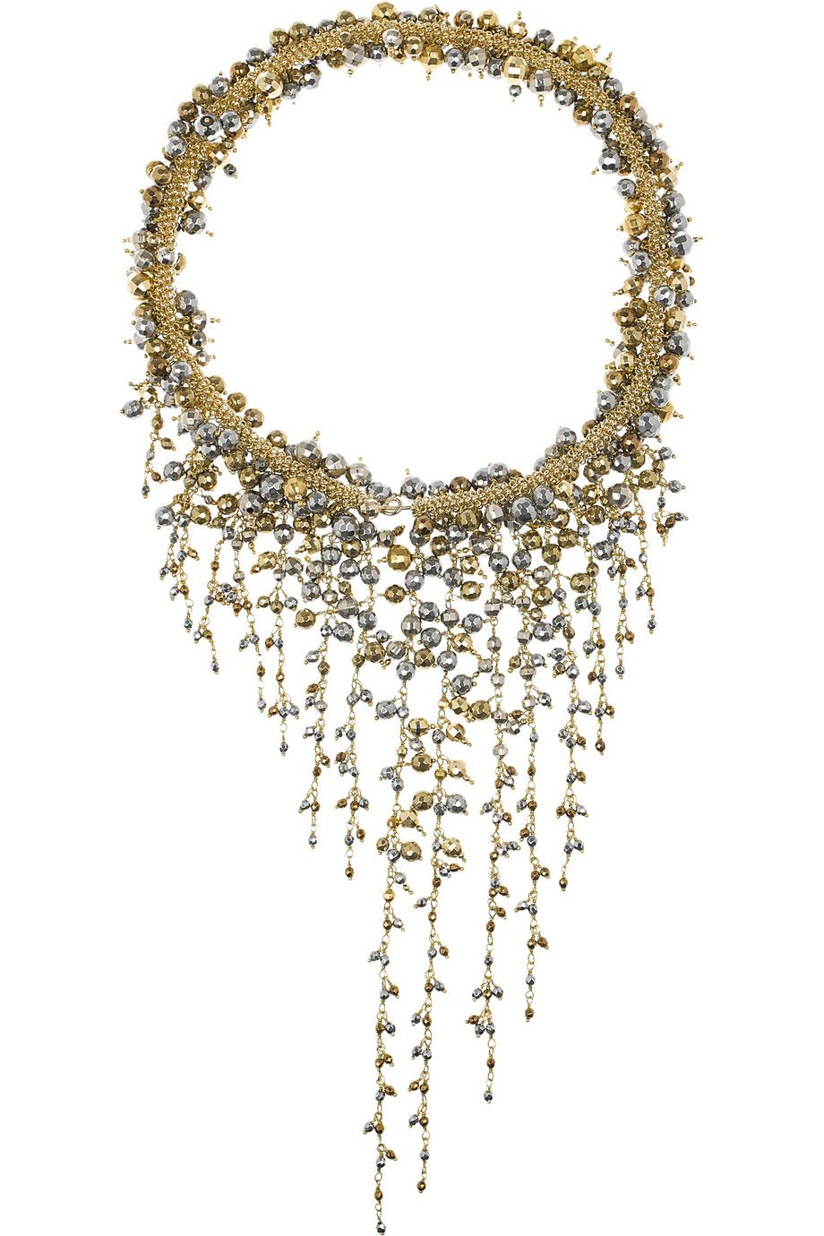 Rosantica | Ruscello gold-dipped hematite necklace | NET-A-PORTER.COM