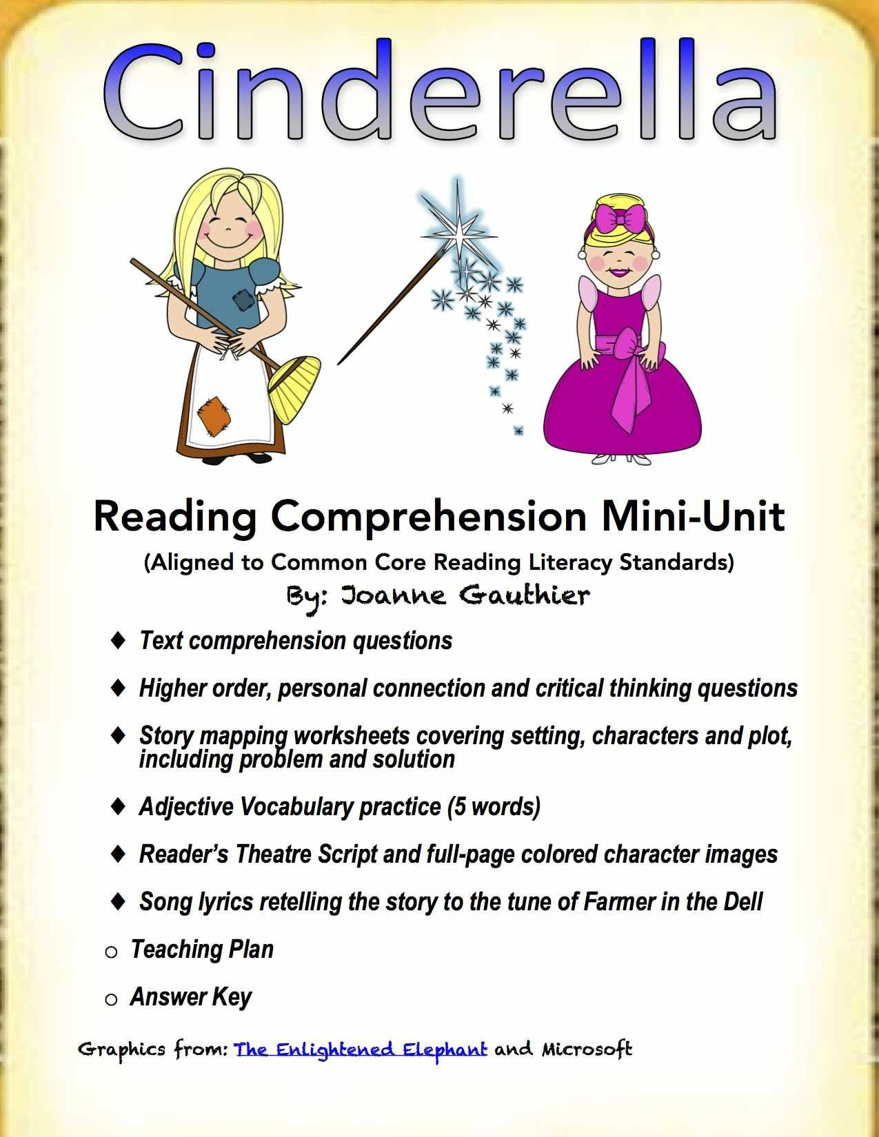 cendrillon venn diagram wire a relay cinderella penguin wiring and electrical fairy tale reading comprehension unit around the rh pinterest com printable for books