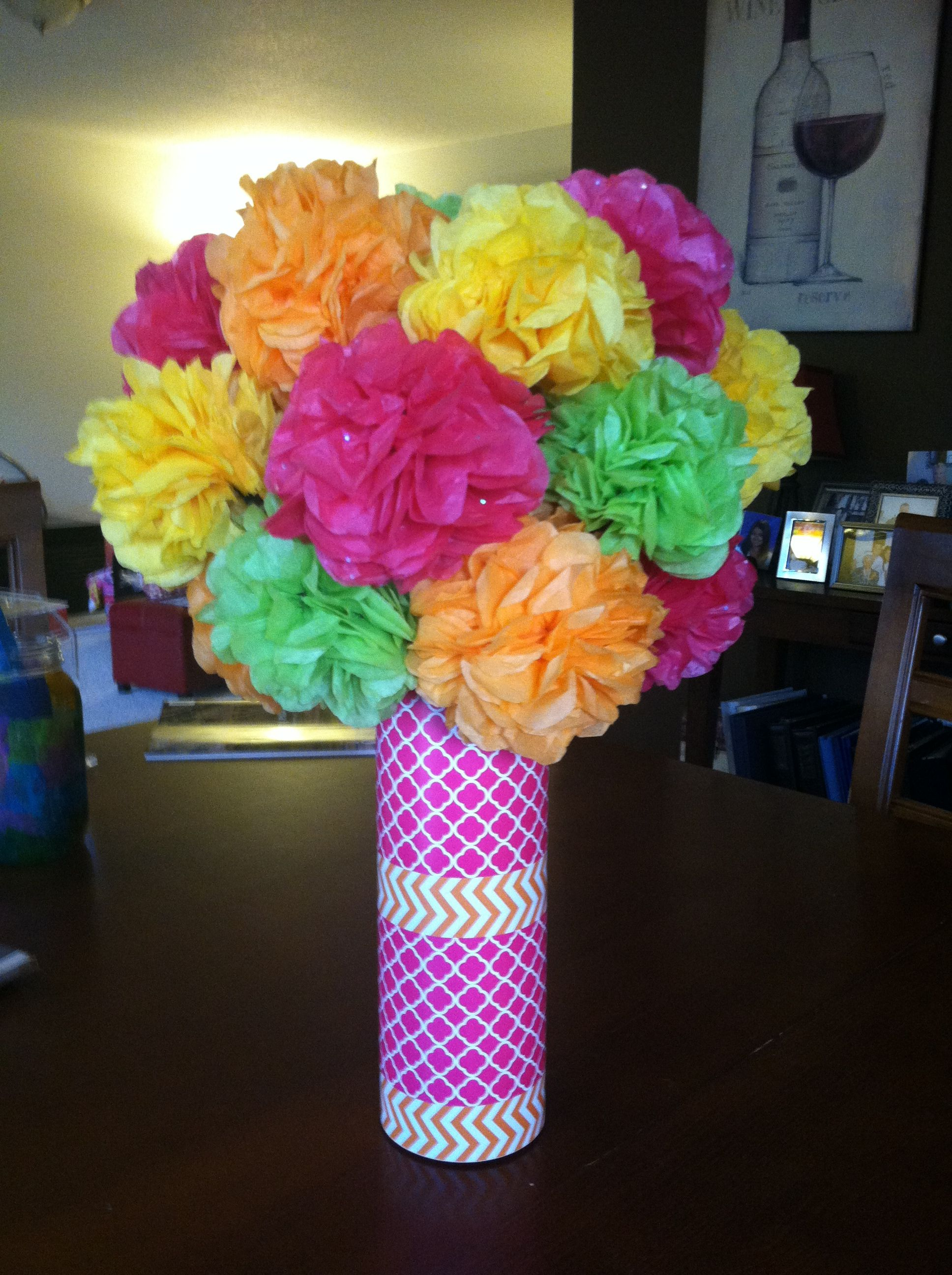 Tissue Paper Flowers In A Vase I Decorated Stuff Ive Made