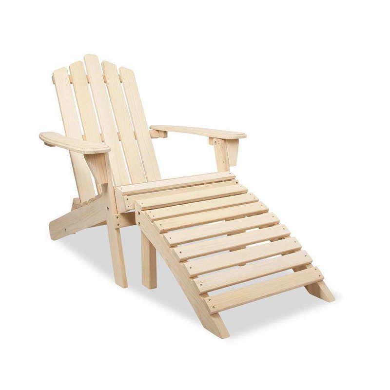 Gardeon Outdoor Wooden Beach Chair Furniture