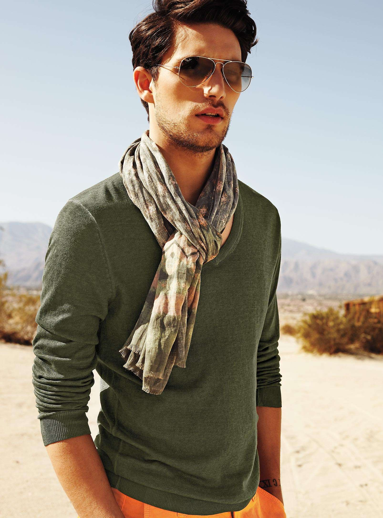Green and scarf