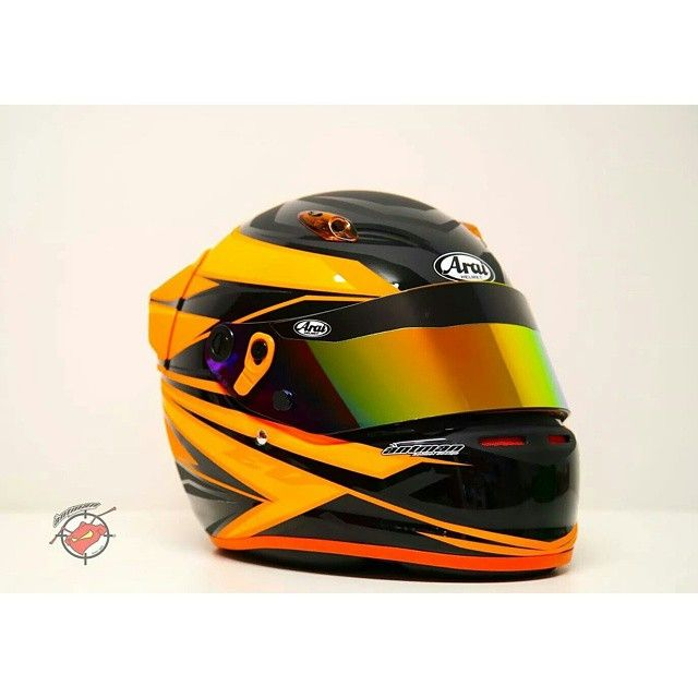 """""""Orange base! Coloured trims available exclusively to #antmanhelmetdesign dealers and distributors.  Order your stock now from www.antmanhelmetdesign.com Wholesale applications welcome! #ahd #customtrix #antmanhelmetdesign #instahelmet #helmetdesign #customhelmetpaint #custompaint #karting"""" Photo taken by @antman_custom_trix on Instagram, pinned via the InstaPin iOS App! http://www.instapinapp.com (12/22/2014)"""