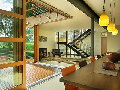 Corner sliders are awesome Office Interior Pinterest - Brique De Verre Exterieur Isolation