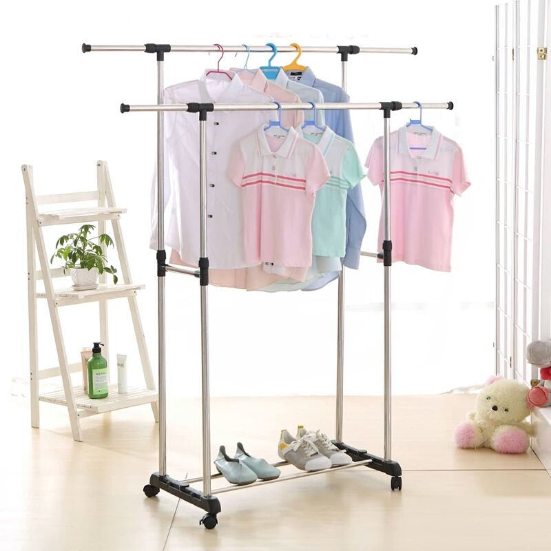 Stainless Steel Garment Storage Cloth Drying Shelf With Wheels View Cloth Drying Shelf Shengtai Product Details From Jiangmen Shengtai Houseware Co Ltd On Rolling Clothes Rack Clothing Rack Hanging Clothes Racks