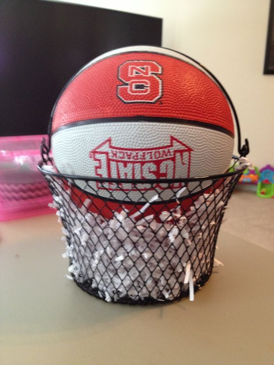 Nc State Wolfpack Sports Theme Party Sports Themed Party Basketball Centerpieces Basketball Gifts