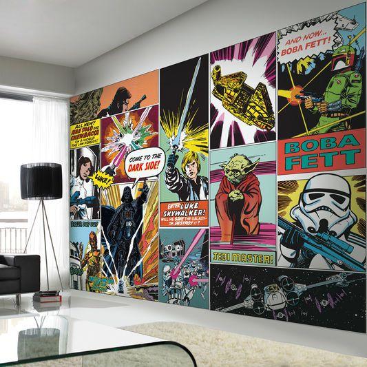 Graham And Brown Star Wars Wallpaper Mural Star Wars Schlafzimmer Star Wars Malerei Kinder Wandmalereien