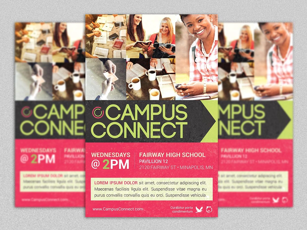 Campus Connect Church Flyer Template  Church Outreach Flyer