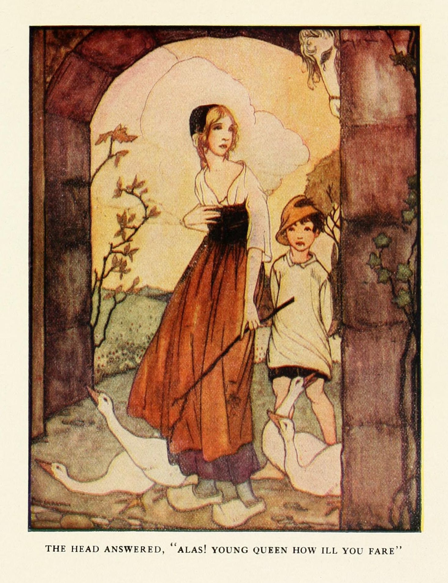 Rie Cramer Illustrations: Grimm's Fairy Tales.