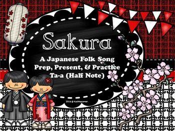 Sakura Cherry Blossoms Japanese Folk Song Prep Present Practice Ta A Ppt Ed Folk Song Japanese Folk Songs