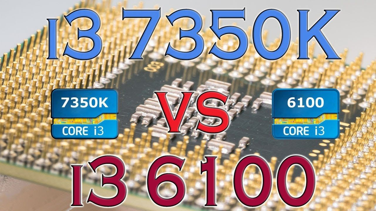 i3 7350K vs i3 6100 BENCHMARK / GAMING TESTS REVIEW AND COMPARISON / KAB...