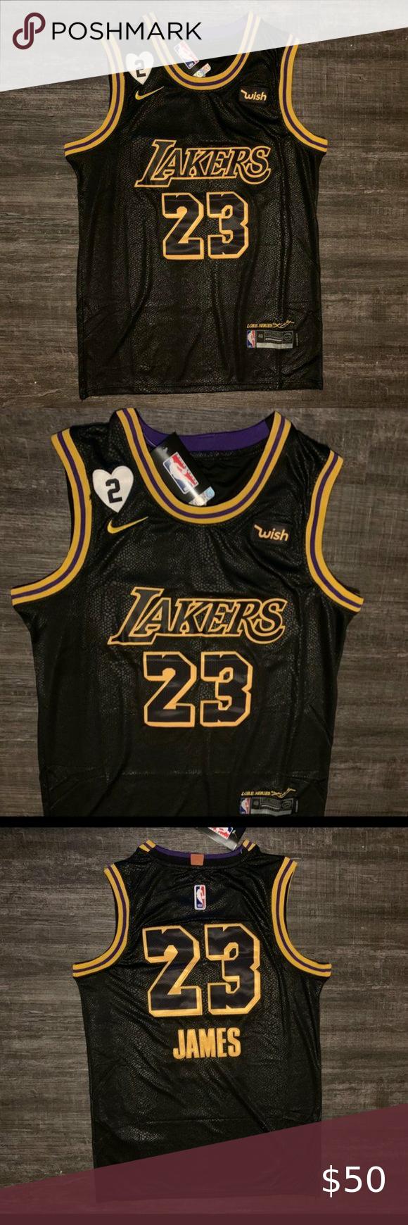 Lakers Lebron Black Mamba Jersey In 2020 New With Tags Nba Shirts Black Mamba