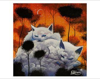 Gatto Galaxy di RaphaelVavasseur su Etsy