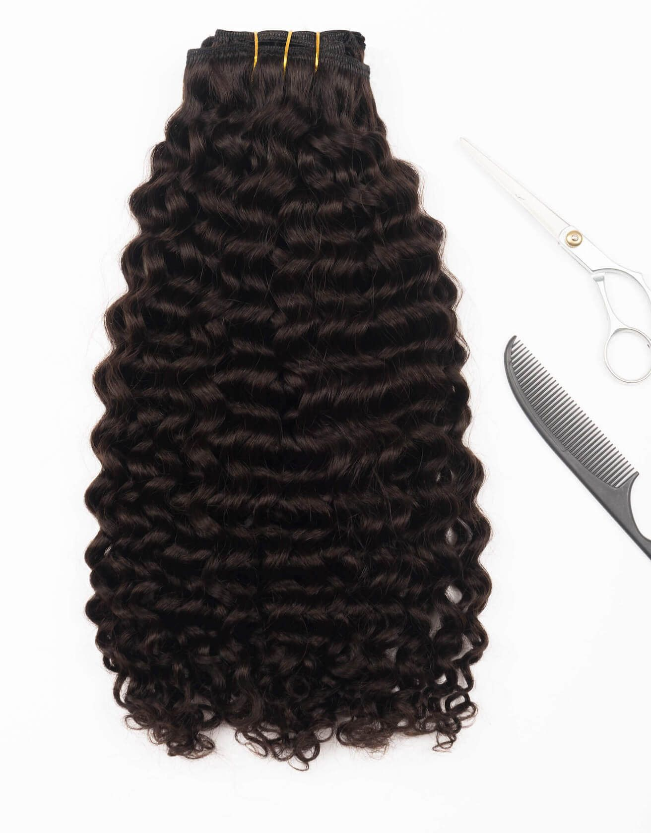 Curly Clip In Set With Images Curly Clip Ins Curly Hair