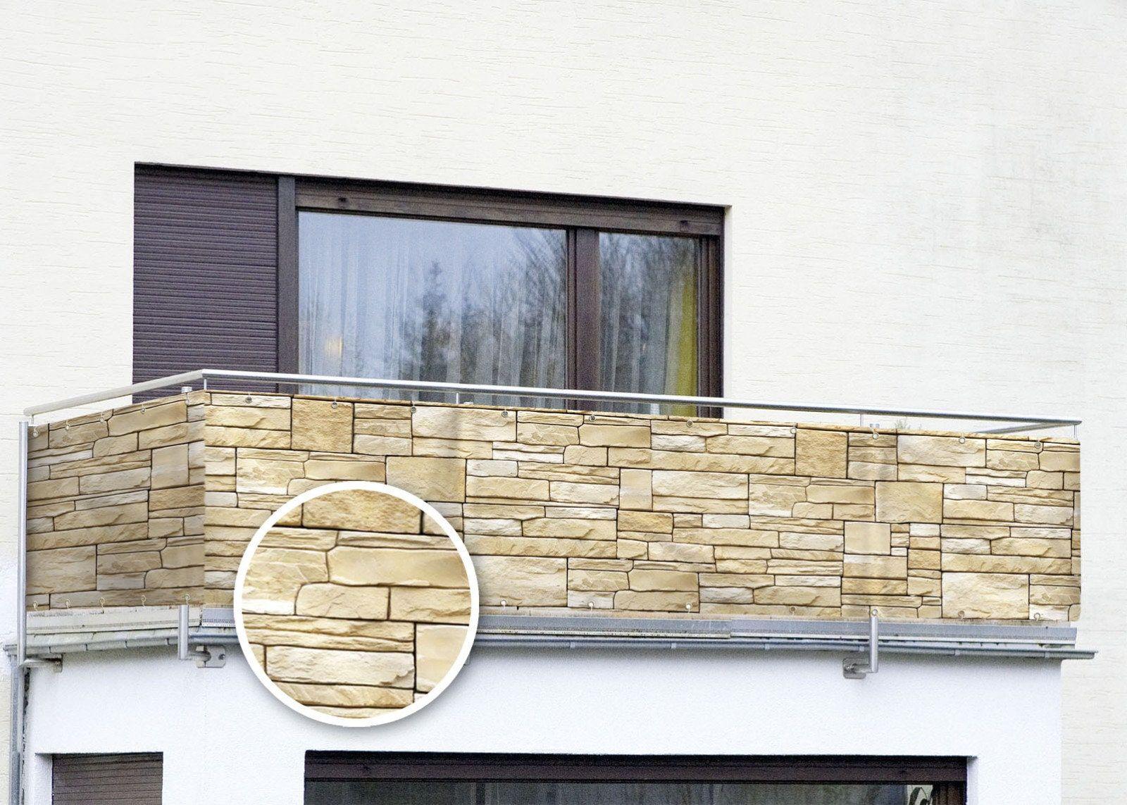 Wenko Sichtschutz Mauer Fur Balkon Terrasse Uv Und