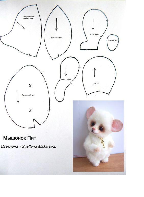 moldes-para-hacer-peluches-de-osos-y-conejos-3 | PATRONES PEQUES ...