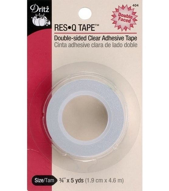 Dritz Res Q Double Sided Clear Adhesive Tape 3 4 W X 5yds Joann Double Sided Adhesive Tape Adhesive Tape Tape