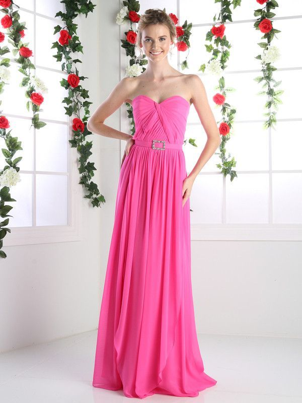 Affordable High end Chiffon Gown Long Bridesmaid Dress in 6 Vibrant ...