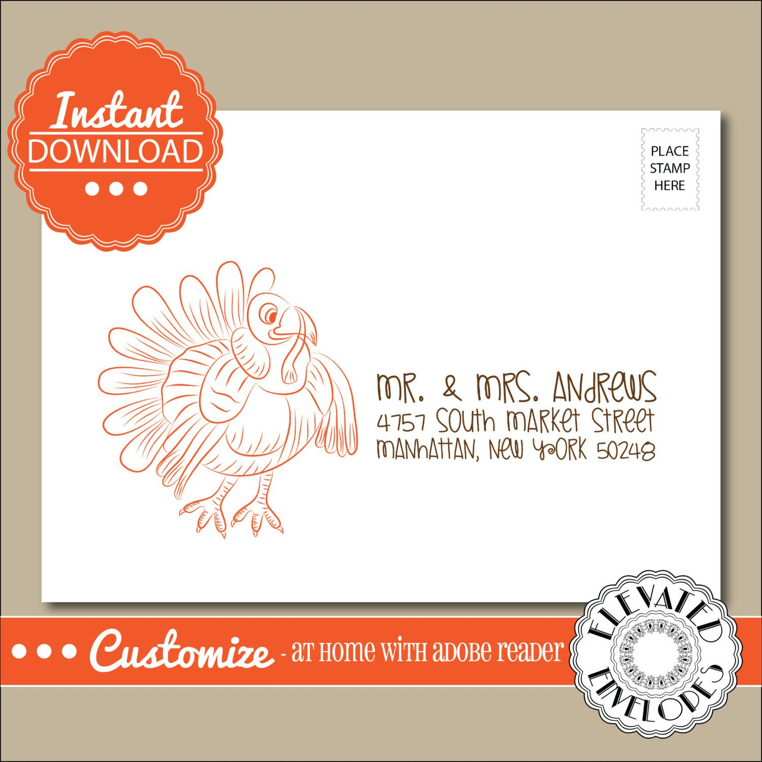 Editable christmas card address label templateenvelope addressing editable thanksgiving envelope templatethanksgiving envelope addressingturkeyrecipient addressingenvelope addressing pronofoot35fo Gallery
