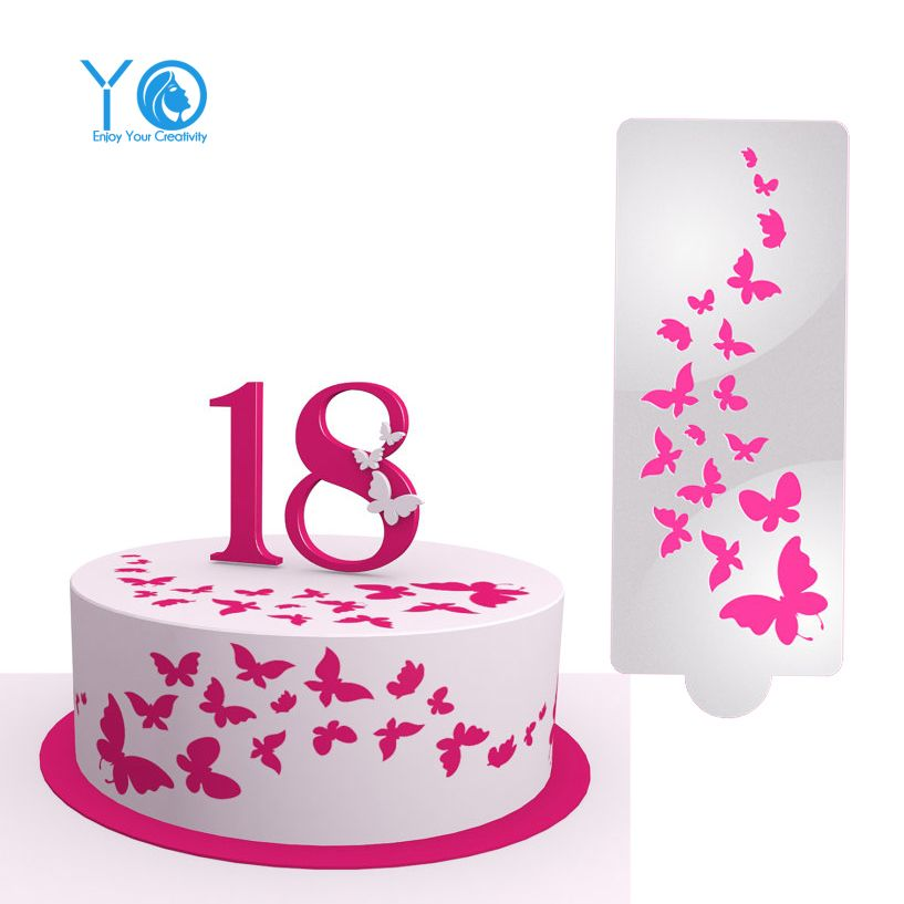 Cheap stencil sheet, Buy Quality cake cloth directly from China cake supplies Suppliers:    4pcs/Lot Newest Design Stencil Cake Stencil Fondant Molds Cakes And Cupcakes Stencil Baking Mold Cake Tools StencilUS