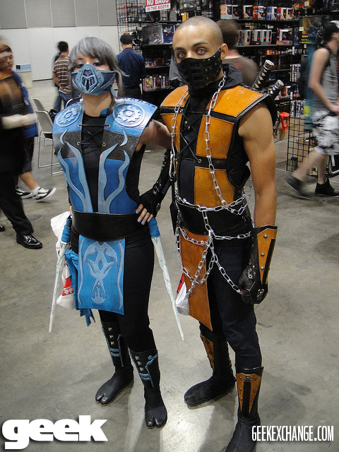 subzero amp scorpion mortal kombat great cosplayer