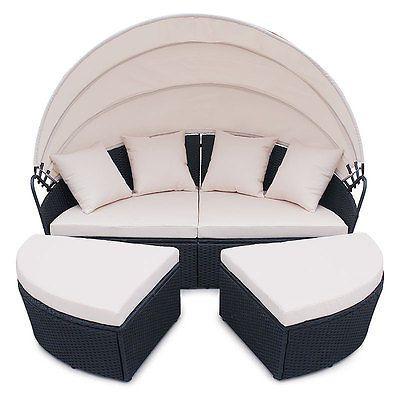 Polyrattan garten lounge gartenset schwarz garnitur for Lounge garnitur terrasse
