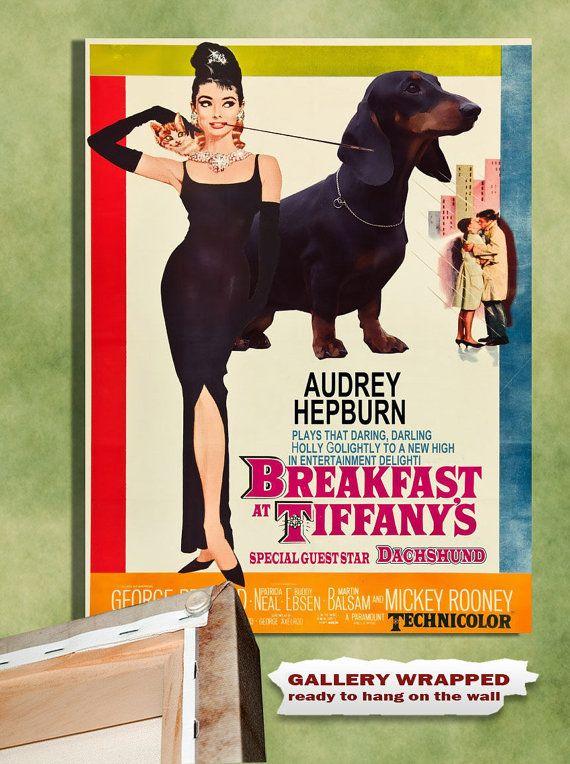 Dachshund Vintage Movie Style Poster Canvas Print By Nobilitydogs