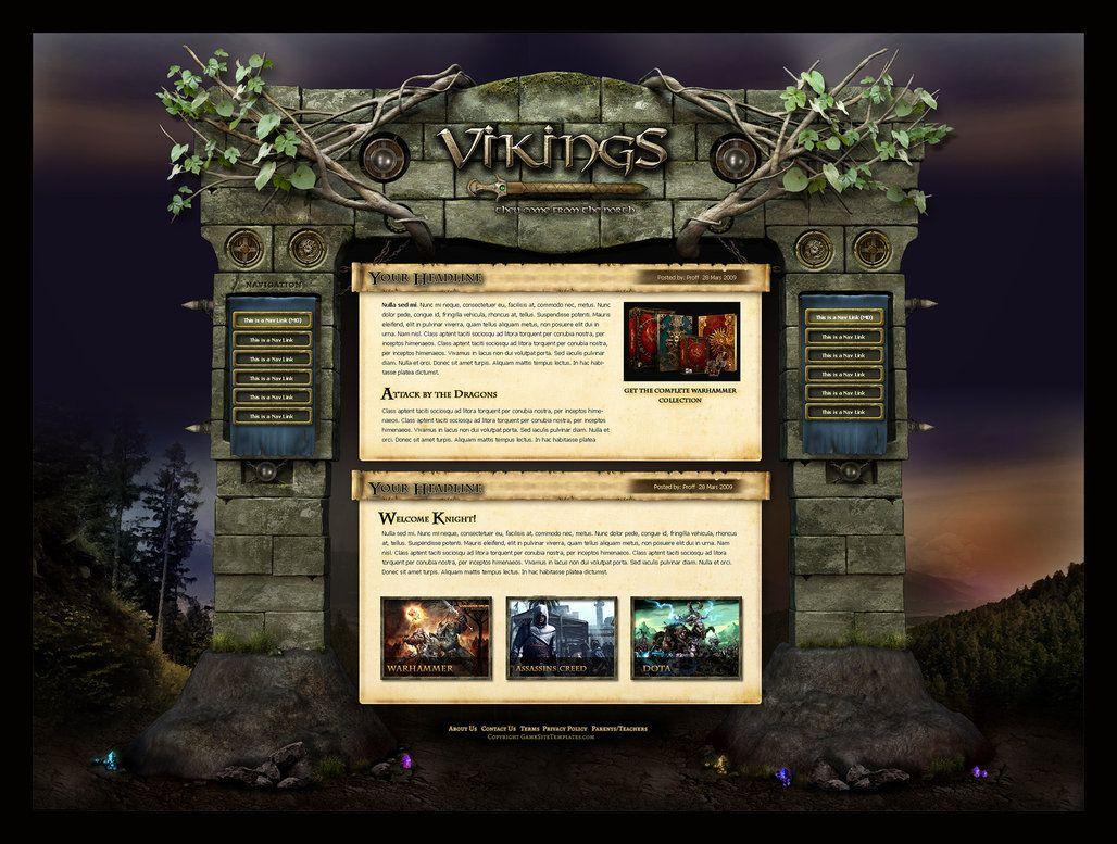 80 best game website images on Pinterest | Website designs, Game ui ...