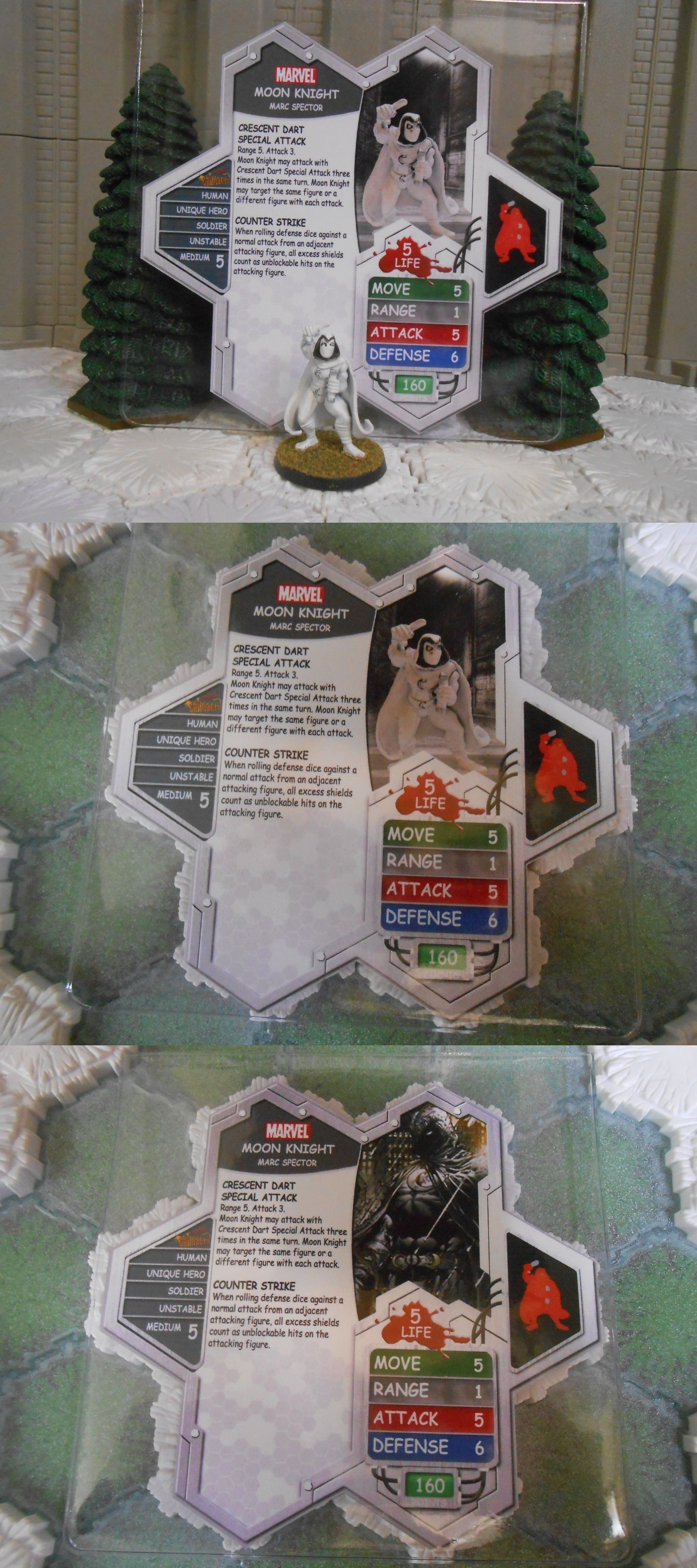 Heroscape Custom Groot Double Sided Card /& Figure w// Sleeve Marvel