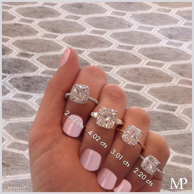 Which engagement ring is your cushion crush? Take your pick!