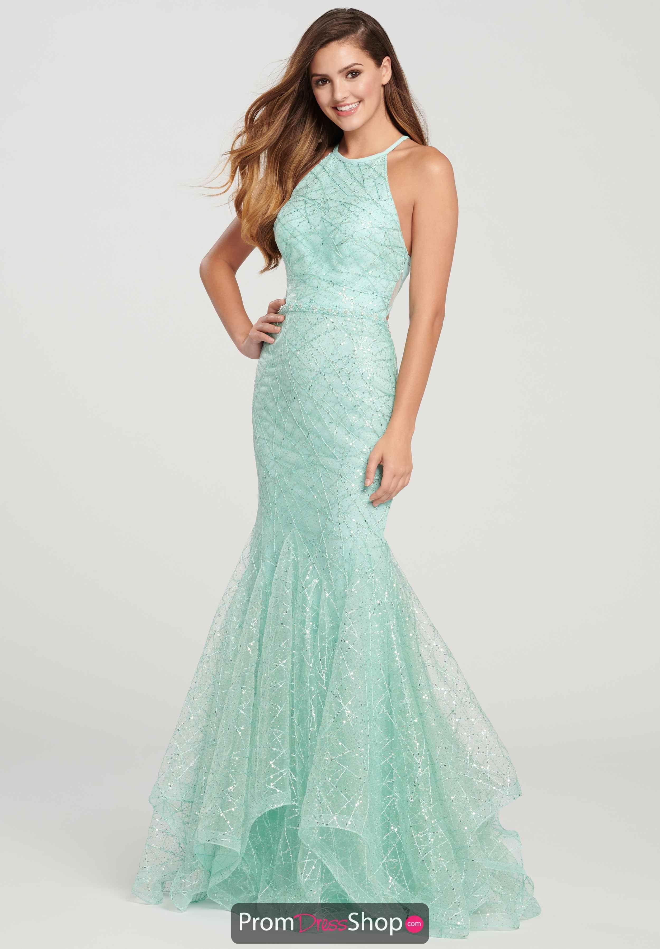 10efe1eda9 Ellie Wilde Sexy Back Mermaid Dress EW119101 in 2019 | Green Dresses ...