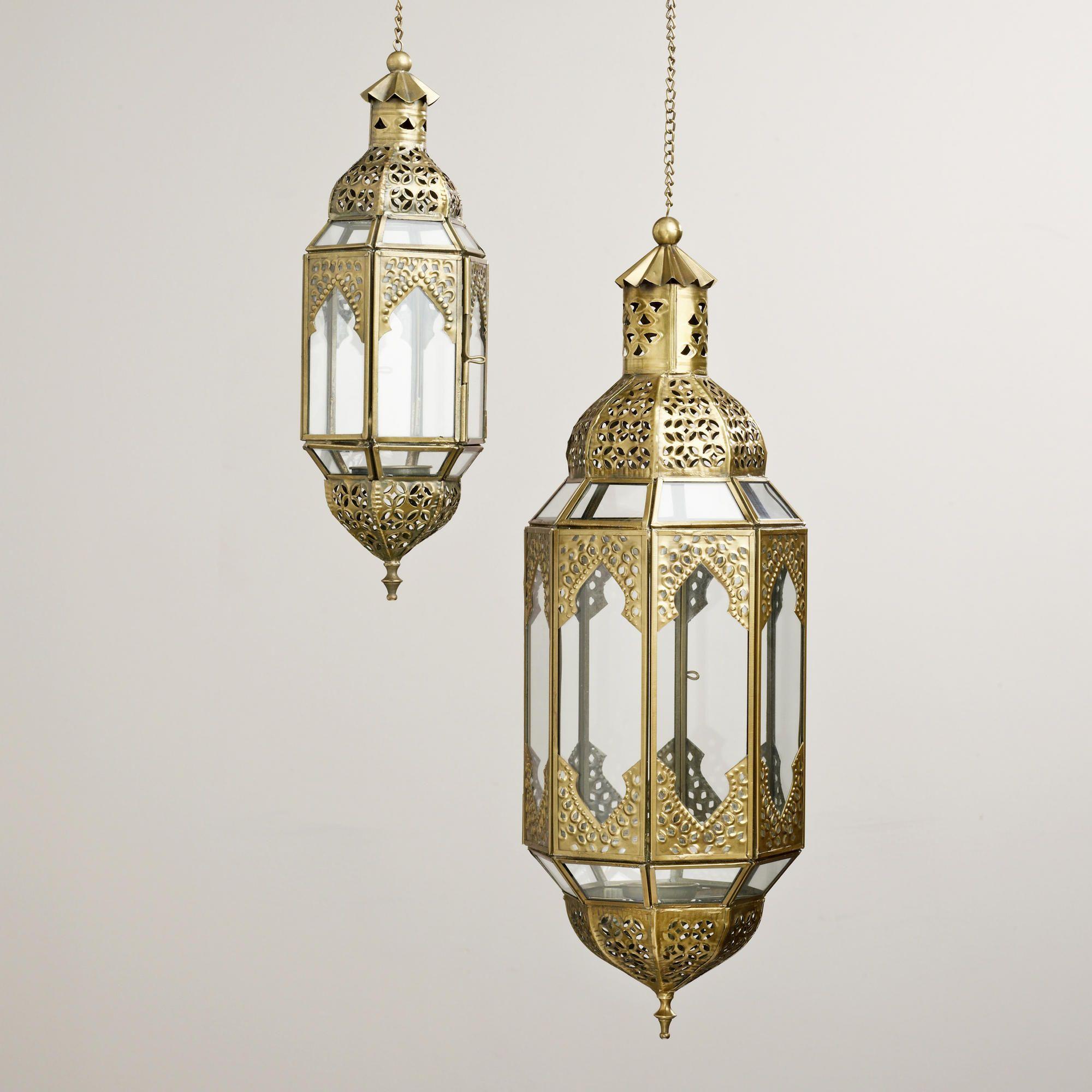 Clear Latika Hanging Lanterns