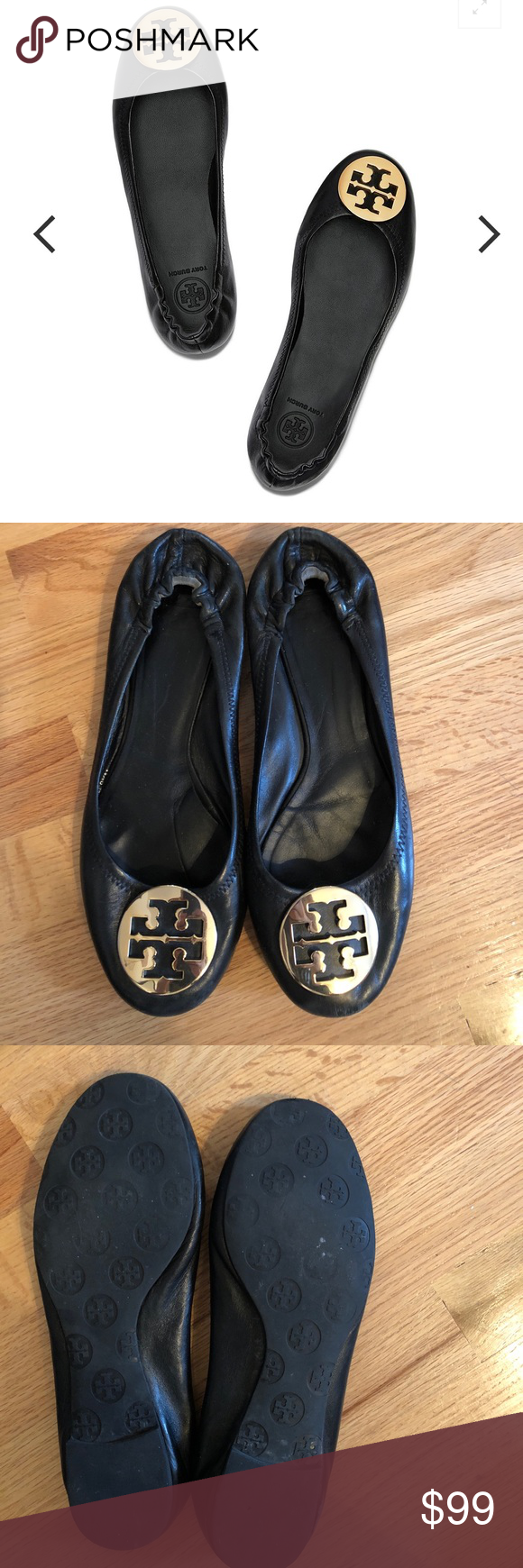 Tory Burch Minnie Travel Ballet Flats, Leather
