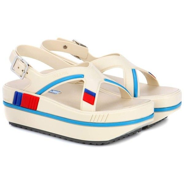 Prada Rubber Platform Sandals ($745