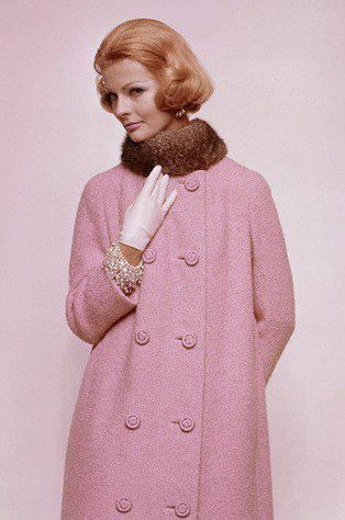 MCM Pretty in Pink Coat with Fur Collar