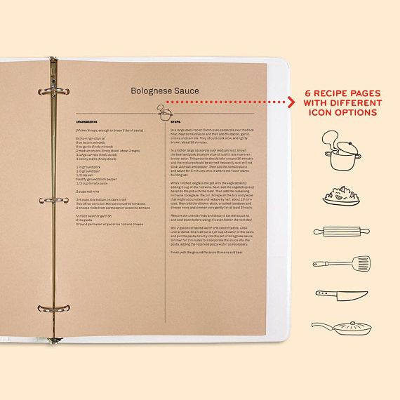 Cooking Is A Craft, Editable Recipe Template, Recipe
