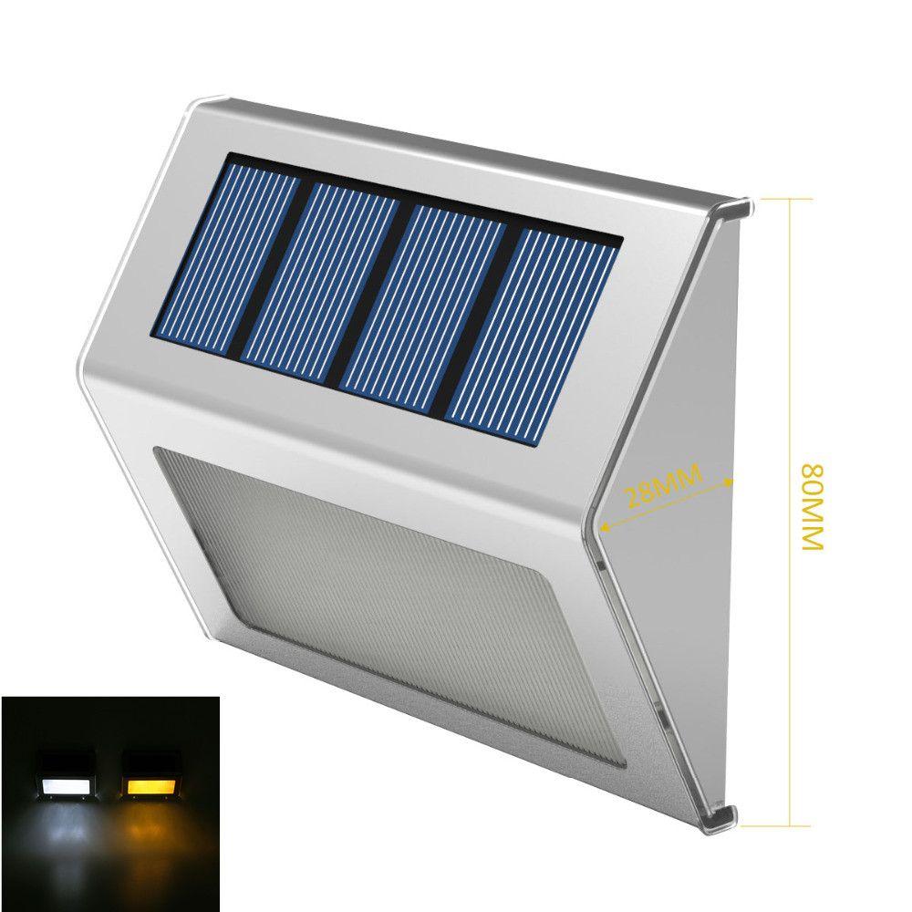 Rvs Outdoor Verlichting led solar light Tuin Decoratie Wandlamp ...