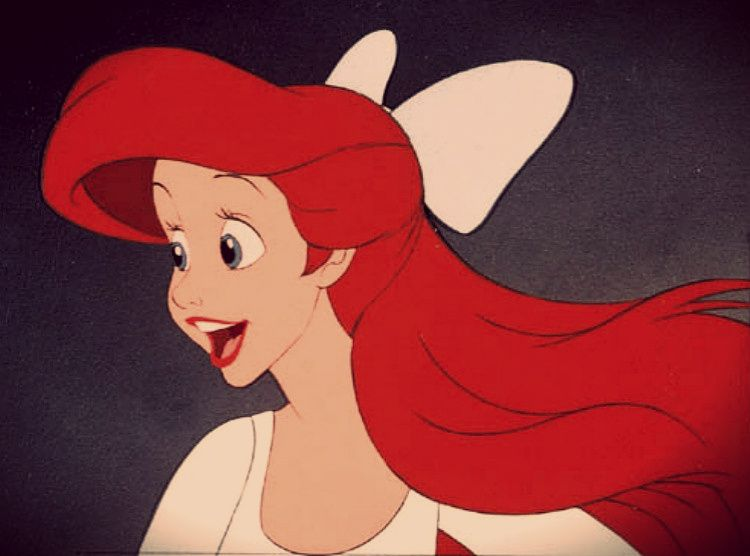 Ariel wearing a big bow