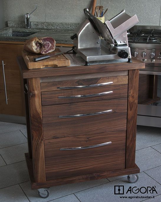kitchen cart , Carrello da cucina in Noce Nazionale 76x50 ...
