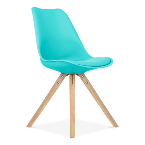 Scandi Designs Turquoise Dining Chair With Pyramid Style Solid Oak Wood Legs Side Chairs Dining Red Dining Chairs Turquoise Dining Chairs