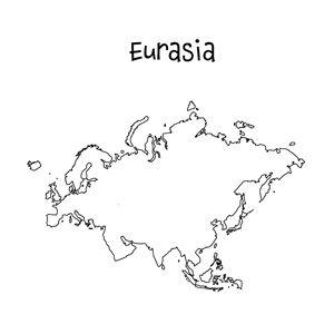 Blank Eurasia Map | Printable Maps | Pinterest | Social ... Blank Map Of Eurasia